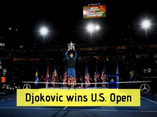 Djokovic wins U.S. Open