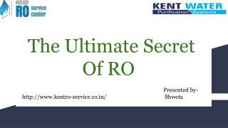 Best Kent RO service and repair center in Delhi