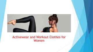 Activewear and Workout Clothes for Women