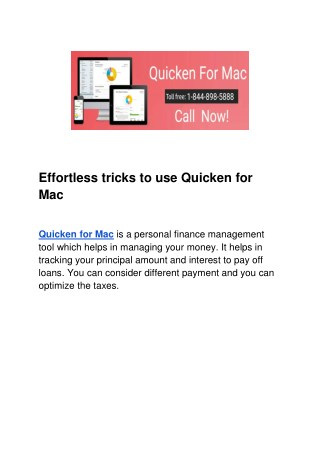 Effortless tricks to use Quicken for Mac