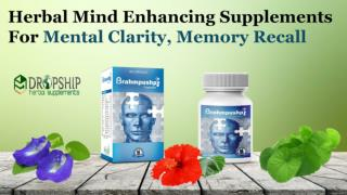 Herbal Mind Enhancing Supplements for Mental Clarity, Memory Recall