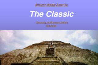 Ancient Middle America The Classic