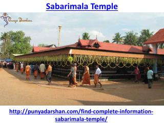 How to visit the darshan of Sabarimala Temple