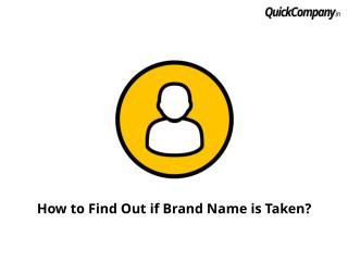 What to do if brand name already taken?
