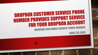 Dropbox Customer Service Phone Number for your Dropbox Account Issues- Free PPT