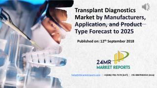 Transplant Diagnostics Market by Manufacturers, Application, and Product Type Forecast to 2025