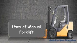 Manual Forklift Suppliers in UAE - Roma Enterprises