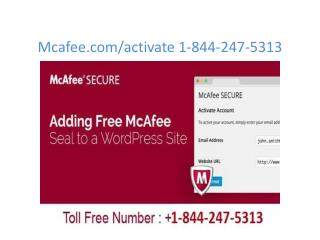 mcafee.com/activate | 1-844-247-5313 | McAfee retail card