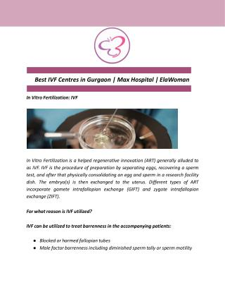 Best IVF Centres in Gurgaon | Max Hospital | ElaWoman