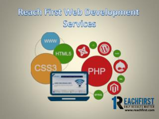 Reach first website development services