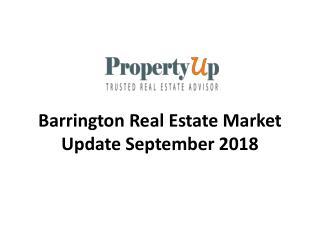 Barrington Real Estate Market Update September 2018