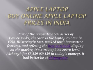 Buy  apple laptops online price in india | price list |shipmychip