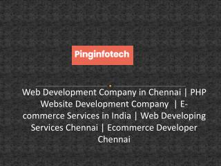 PHP Website Development Company - Pinginfotech