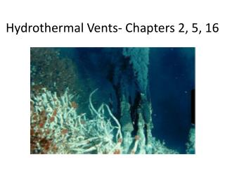 Hydrothermal Vents- Chapters 2, 5, 16