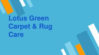 Carpet Cleaning DC Area | Lotus Green Carpet & Rug Care
