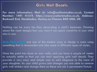 Girls Wall Decals