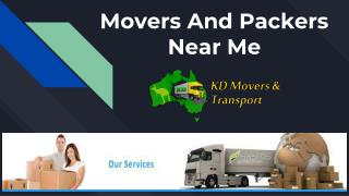 Movers And Packers Near Me