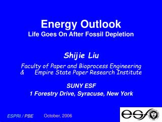 Energy Outlook Life Goes On After Fossil Depletion