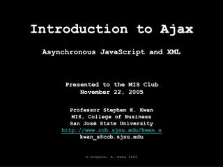 Introduction to Ajax