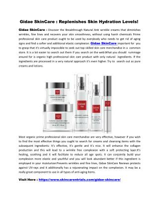 Gidae SkinCare : Rejuvenate Your Skin For A Healthy Glow!