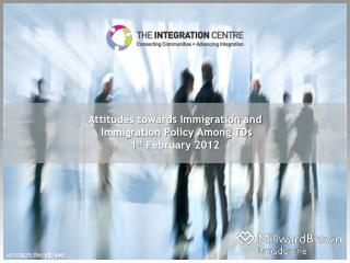 Attitudes towards Immigration and  Immigration Policy Among TDs 1st February 2012