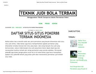 DAFTAR SITUS-SITUS POKER88 TERBAIK INDONESIA
