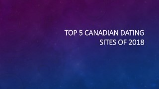 Top 5 canadian site