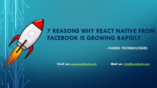 Checkout top 7 Reasons Why React Native is Growing Rapidly