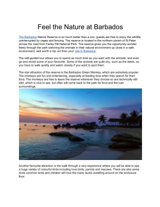 Feel the nature at barbados
