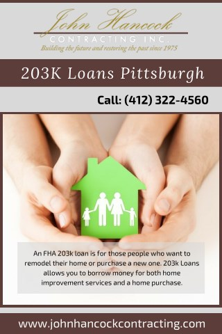 203K Loan Pittsburgh