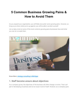 5 Common Business Growing Pains & How to Avoid Them