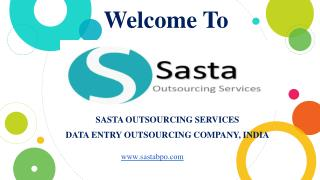 Ecommerce Data Entry Services Benefits - Sasta Outsourcing Services