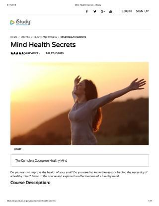 Mind Health Secrets - istudy