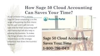 Sage 50 Cloud Accounting Can Saves Your Time | Get Help 1-800-796-0471