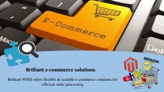 E- commerce solutions