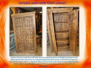 Antique look hand craft cabinet