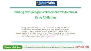 Finding Non-Religious Treatment for Alcohol & Drug Addiction