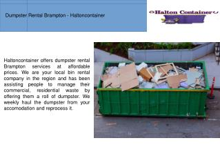 Dumpster Rental In Brampton