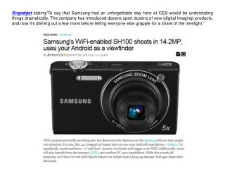 Engadget Commended Samsung Wi-Fi enabled SH100
