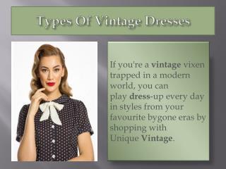 Types of Vintage Dresses