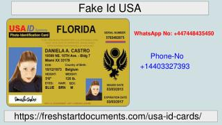 Get Real and Fake USA ID at affordable Price | Freshstart Documents
