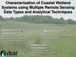 Characterization of Coastal Wetland Systems using Multiple Remote Sensing Data Types and Analytical Techniques