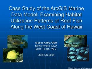 Case Study of the ArcGIS Marine Data Model: Examining Habitat Utilization Patterns of Reef Fish Along the West Coast of