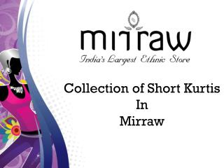 2018 Short Kurti Designs For Jeans