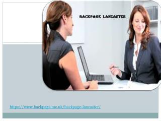 Backpage Lancaster Back page Lancaster