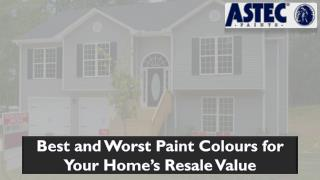 Best and Worst Paint Colours for Your Home's ResaleValue