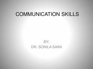Communication Skills For Indirect Practice