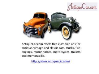 Antique cars for sale