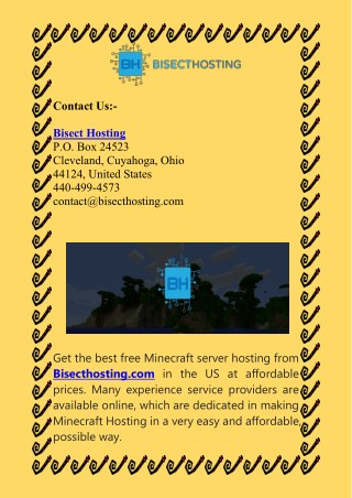 Get Free Minecraft Server Hosting 24/7-Bisect Hosting