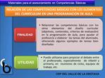 RELACI N DE LAS COMPETENCIAS B SICAS CON LOS ELEMENTOS DEL CURR CULUM EN UNA PROGRAMACI N DE AULA